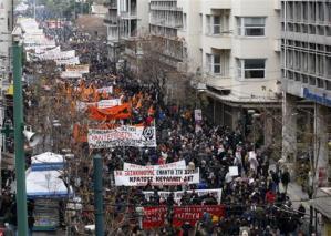 Sciopero generale in Grecia 12 Novembre 2015 dc